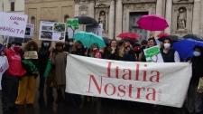 Salviamo i pini di Roma - manifestazione di Italia Nostra - VIDEO