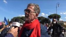 Roma - manifestazione per la libertà - intervista a Fulvio Grimaldi