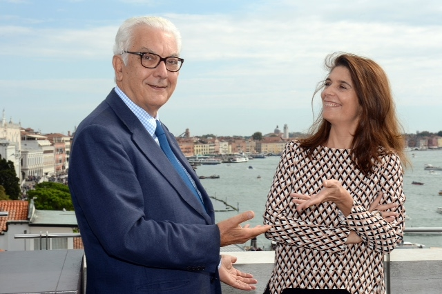 Paolo Baratta e Christine Macel  -Photo by Andrea Avezzù - Courtesy La Biennale di Venezia